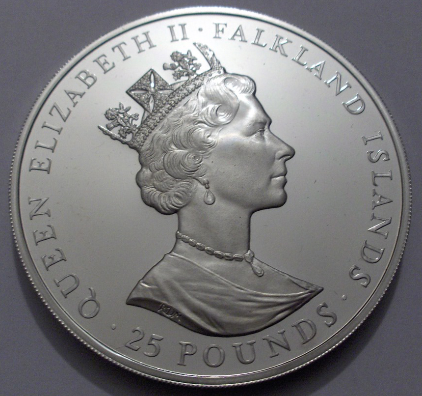 Falkland Islands 1985 25 Pounds back