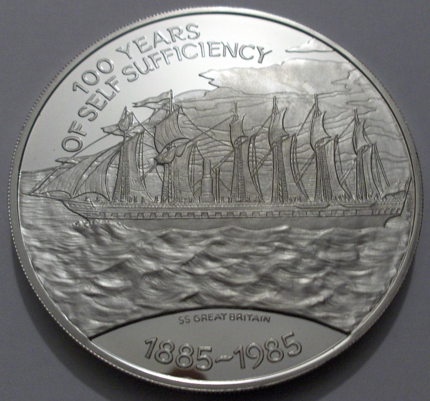 Falkland Islands 1985 25 Pounds front
