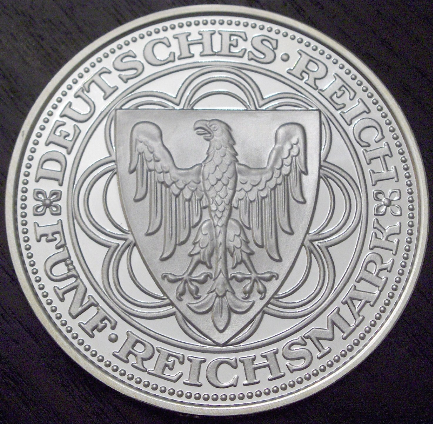 Germany 1987 5 Reichsmark front