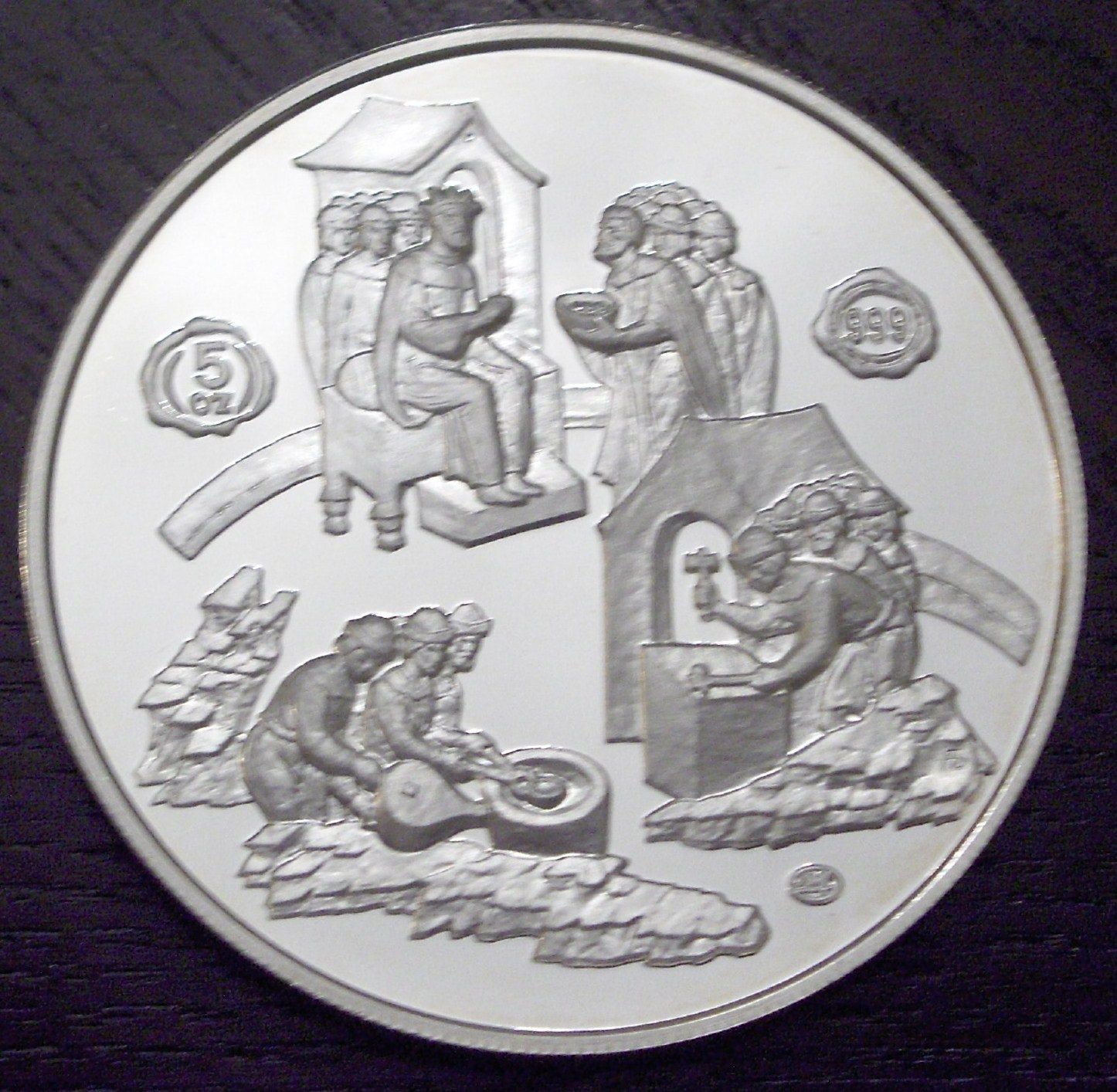 Russia 1988 5 Ounces Coins front